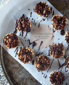 Chocolate Drizzled Pecan Pie Bites by Nutmeg Nanny