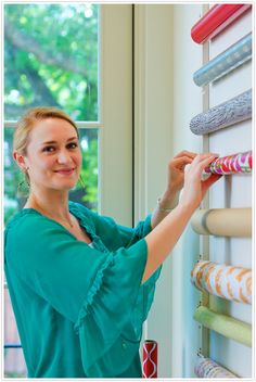 DIY - Nice Rack (Wrapping Paper Wall organizer) on Camille Styles