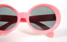 Vintage 1960s Sunglasses / 60s Cotton Candy Pink Glasses