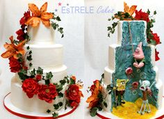 EDITOR'S CHOICE (10/5/2013) Spongebob wedding cake by Estrele Cakes