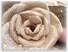 Make book page roses! - wonderful tutorial by Market Nine Home