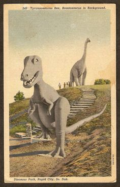 vintage Dinosaur Park in Rapid City, SD
