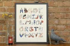 ABC & Alphabet art prints: London A-Z by Helen Lang