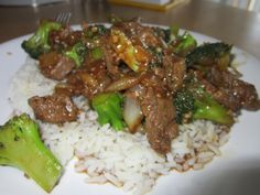 Easy Beef and Broccoli stir fry. Way healthier than what you would get at a Chinese restaurant!