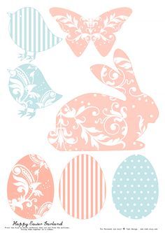 todi: Free Printables for Easter Decoration
