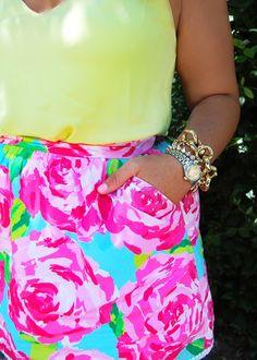 Lilly Pulitzer skirt. Summer love