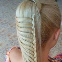 awesome braided ponytail
