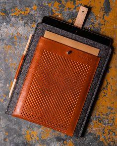 iPad Air case, premium wool felt and leather