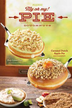 key lime, dutch appl, pie doughnut, appl pie, caramel
