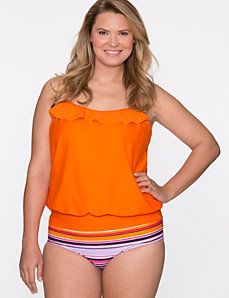 Blouson swim tank by COCOS Swim
