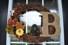 fall wreaths for front door | am about to show you the easiest DIY project ever. You ready for ... #home #decor