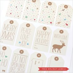 free holiday labels