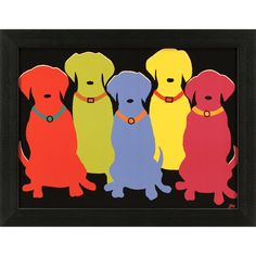 Five Labs Framed Print at Joss & Main