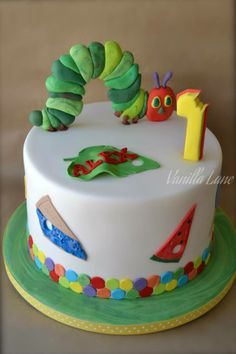 The Very Hungry Caterpillar Birthday Cake by Vanilla Lane, Muswellbrook, New South Wales, Australia. You'll find this Cake Appreciation Society Member in our Directory at www.cakeappreciationsociety.com