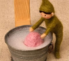 egg tutorial, the wee elf shows you how, so adorable