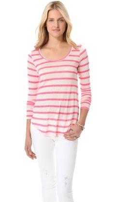 Velvet striped top.