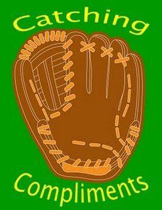 Medium poster for class behavior.  Class receives a baseball for each good behavior compliment.  After 25 baseballs, they receive a reward.