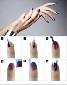 THE FADE OUT MANICURE - The ombré trend lives on. Find out how to get this look on the #Sephora Glossy>