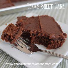 Texas Sheet Cake | Chocolate, Chocolate and more...