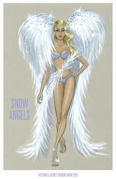 When I was in the Victoria secret in the mall, I ask to try them on. The wings are so cool