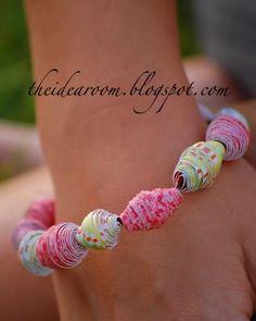 Paper Bead Bracelets & Necklaces