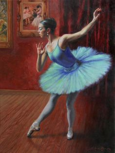 """A Legacy of Elegance"" - 24x18 - oil on linen - $3200. Painting of a classical ballerina, by Anna Rose Bain"
