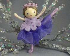Ballerina Bendy Doll by Princess Nimble-Thimble via Etsy