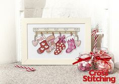 Ready for Santa – stitch country-charm! Cross stitch these stunning stockings, with rustic detail and perfectly embellished with beads and buttons. Find the pattern only in the new issue 221 of The World of Cross Stitching magazine