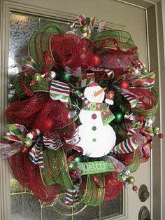 Christmas mesh wreaths by osa