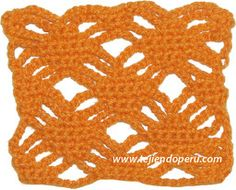 Punto fantasía con rombos y cadenas tejido a crochet!