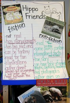 Comparing fiction and non-fiction with hippos