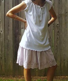 tutorial - make a peasant top from an old t-shirt