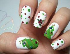 Unhas Decoradas para Natal;