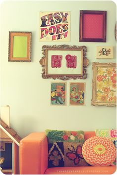 Pretty wall collage of frames