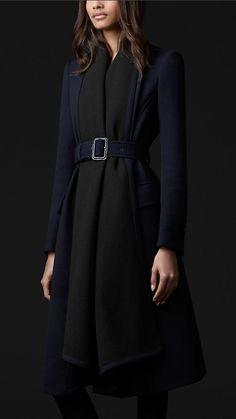 Burberry Prorsum Virgin Wool Blanket Coat
