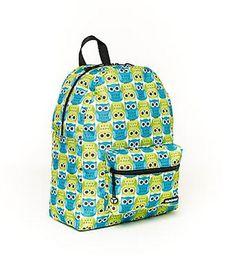 classic backpack, owl print