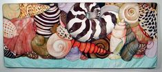 VELDA NEWMAN. Sea Shells, 2002 Cotton sateen; hand dyed, paint, pencil work 60 x 142 in.  Carl Solway Gallery