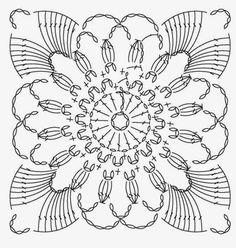 Crocheted motif no. 5