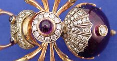 Faberge Spider Brooch Jewelry