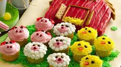 Bake up a delicious red barn and fun-to-decorate animals.