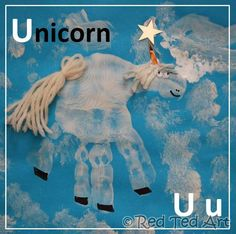 Have you seen @Sarah Therese Ted Art's alphabet series of handprint animals? U is for Unicorn.