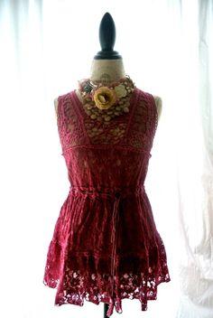 Gypsy cowgirl lace tunic
