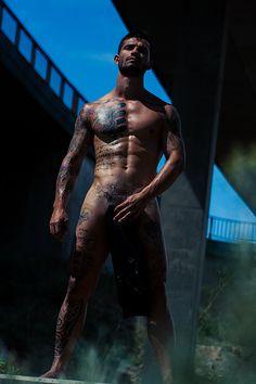 Model and tattoo artist Airam Castedo Photographer: Adrian C. Martin Underwear: Modus Vivendi