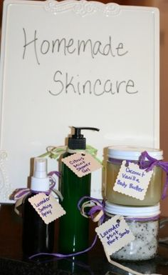 Homemade Gift Ideas: Natural Skincare Products