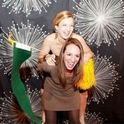 wedding photo booth love the fire works back drop!