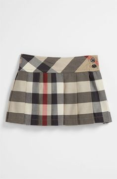 Burberry Check Print Skirt (Infant) available at #Nordstrom