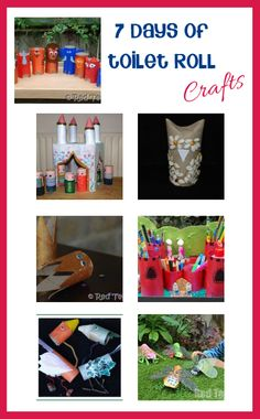 7 days of loo roll crafts features on Rainy Day Mum from Red Ted Art