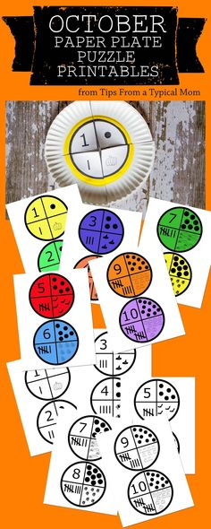 paper plate puzzles: fun number learning for kids --> FUN and simple way to play with numbers!