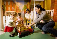 City Capers offers a realistic urban environment of buildings from Philadelphia's skyline, a construction zone and Children's Hospital of Philadelphia® Medical Center, and other activities that create a 'neighborhood' inside the museum.