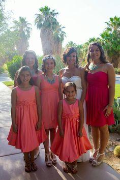 Real Wedding ♥ Jamie and Phil ♥ Bridal Party #golfcoursewedding #outdoorwedding #outdoorceremony #desertwedding #californiawedding #palmspringswedding #palmdesertwedding #southerncaliforniawedding #bridesmaidsdresses #bridesmaids #bridalparty